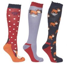 TOGGI PACK OF 3 HARTON POLKA DOT SOCKS - RRP £17.00